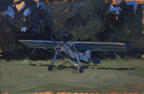 airplane Ten paintings a day