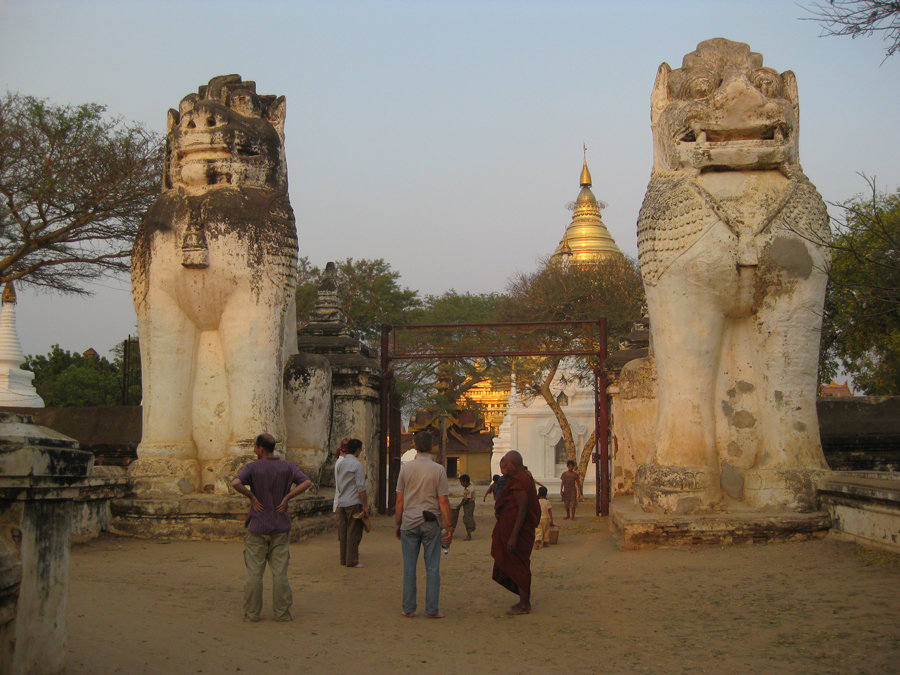 Scouting outside of the Shwezigon Pagoda