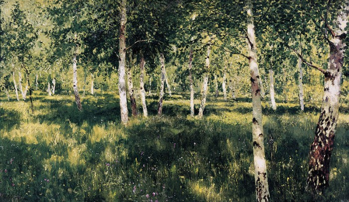 Birch Forest by Isaac Levitan. Oil on canvas 1885-1889