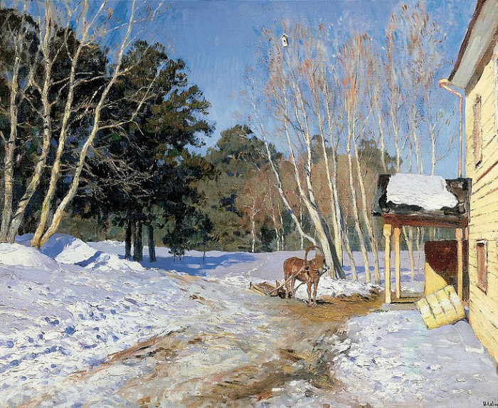 March by Isaac Levitan.