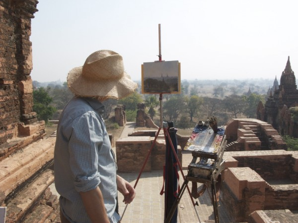 Painting in New Bagan