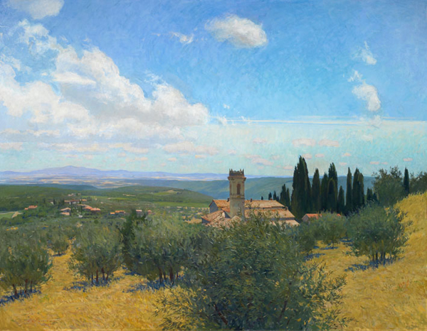 San Marcellino a Monti. Oil on linen, 2009, 70 x 54 inches.