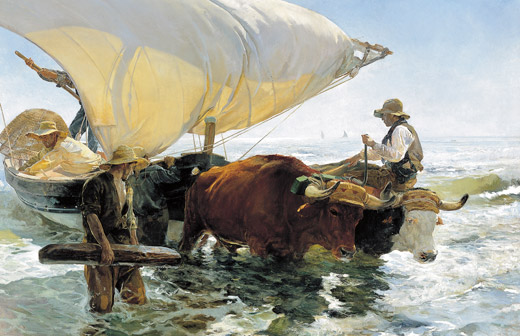 La Vuelta de la Pesca. Oil on linen, 265 x 325 cm, 1894.