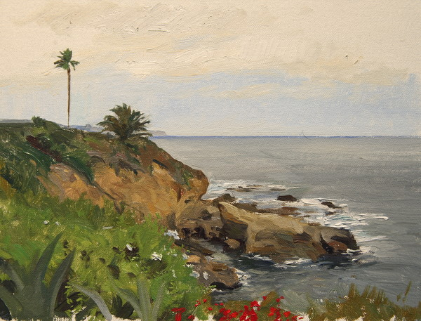 Laguna Cliffs. 10 x 12 in., oil on panel.