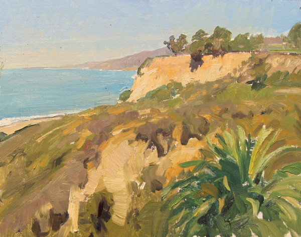 Palisades Cliffs. 11 x 14 in., oil on panel.
