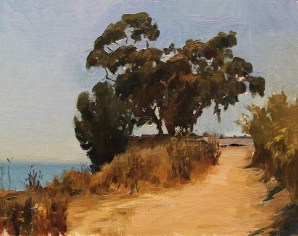 Eucalyptus. 11 x 14 in., oil on panel.