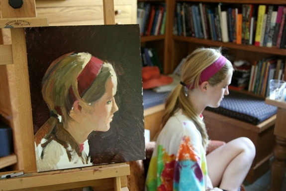 Picture of the portrait demonstration on the first day.