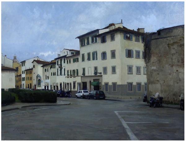 Piazza Tasso in Feburary