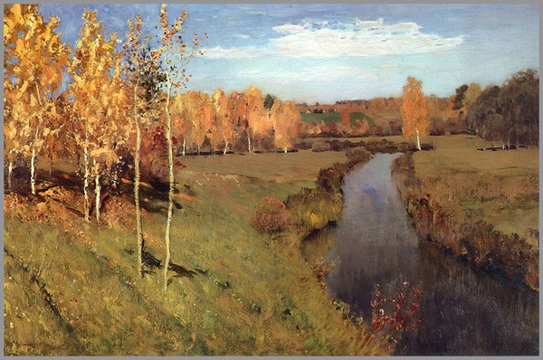 Isaac Levitan. Golden Autumn, 1895.
