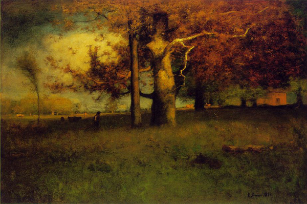 George Inness. Early Autumn, Montclair. 1891 Oil on canvas 30 x 45 in.