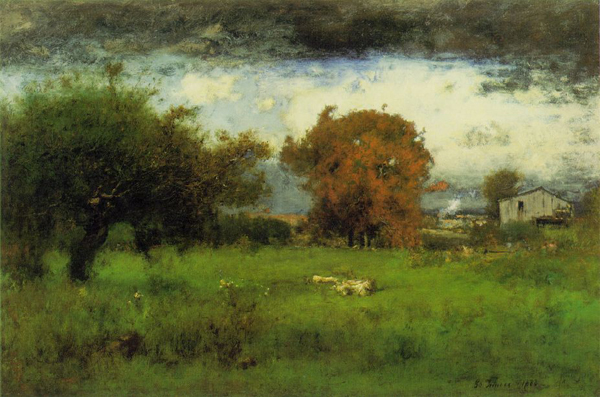 George Inness. Early Autumn, Montclair. 1888 Oil on canvas 30 x 45 in.