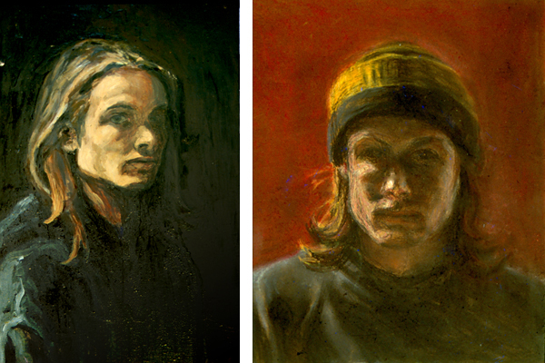 Self Portraits from my UCSC days. 1989-1992