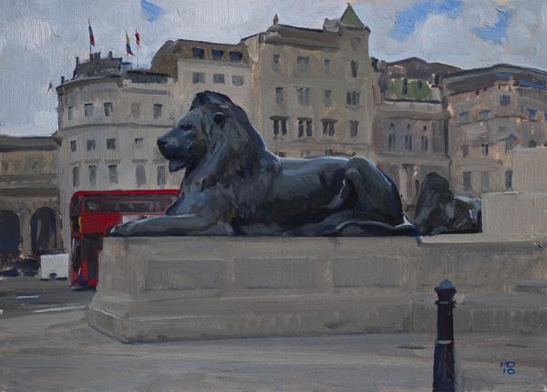 trafalgar lions Plein Air London