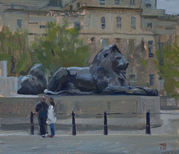 trafalgar square Plein Air London