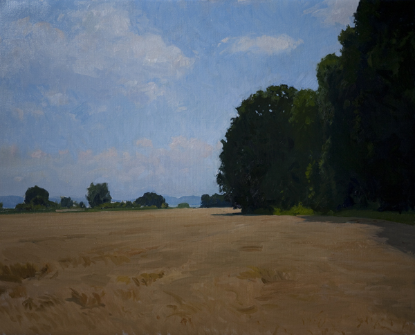 trasimeno fields Montefalco Plein Air