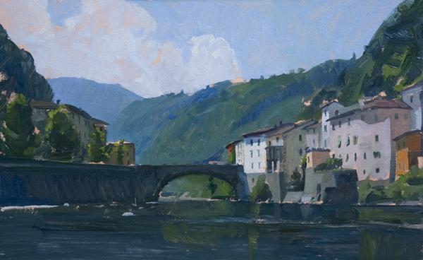 bagni di luca Landscape Painting in Tuscany