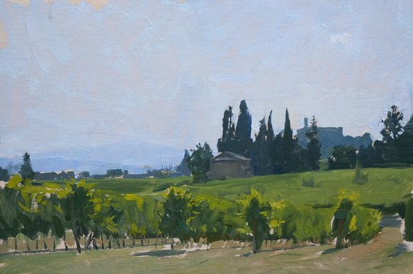 banfi Landscape Painting in Tuscany