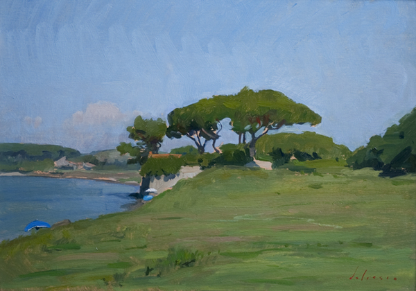 chapel at baratti Landscape Painting in Tuscany