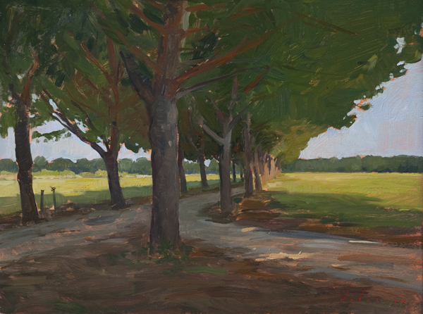 pines at palone Landscape Painting in Tuscany