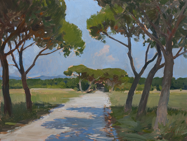 road at palone Landscape Painting in Tuscany