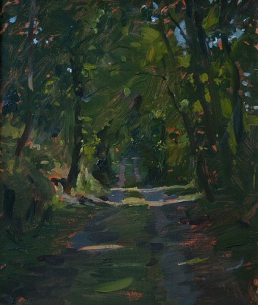 road through the woods 507x600 Castello di Reschio Paintings
