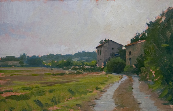 station at bibbiano Landscape Painting in Tuscany