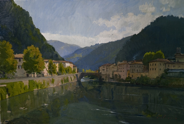 bagni di lucca Recent Italian Plein Air Work