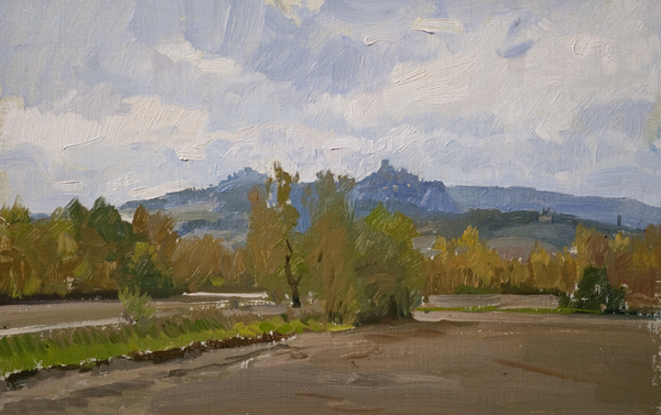 castiglion d orcia Recent Italian Plein Air Work