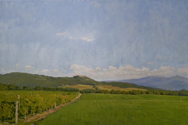 sant angelo in colle Recent Italian Plein Air Work
