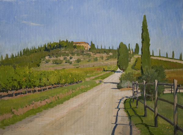 villa argiano Recent Italian Plein Air Work