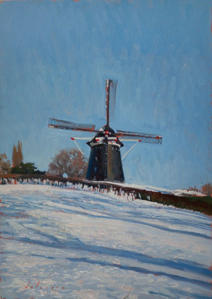 windmill 426x600 Limburg Snowscapes
