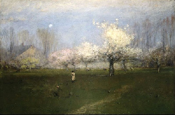 2 George Inness 1825 1894 Spring Blossoms Montclair New Jersey Blossoms and Tulips