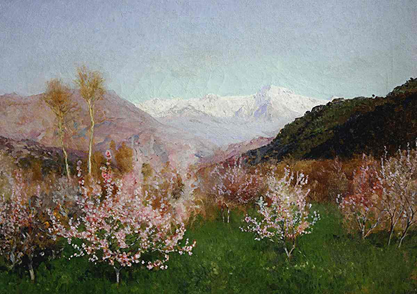 levitan Blossoms and Tulips