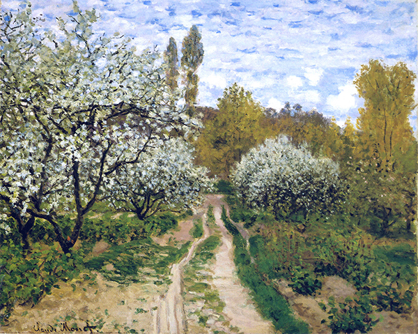 monet trees in bloom Blossoms and Tulips