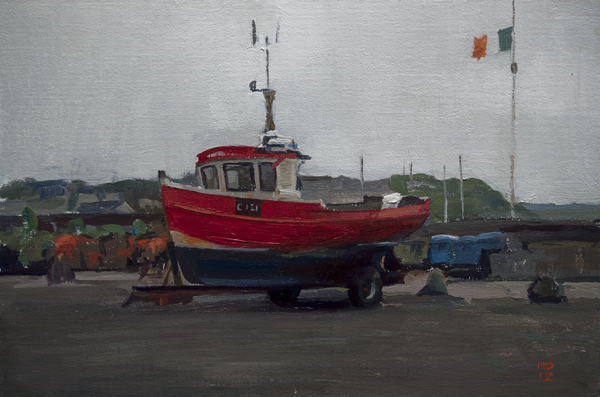 boat at kilmore Art in the Open Paintings (Wexford, Ireland)