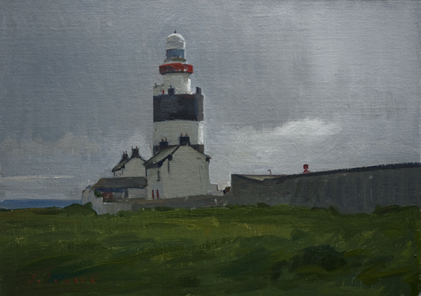 Landscape Painting of Hook Head Lighthouse, Ireland