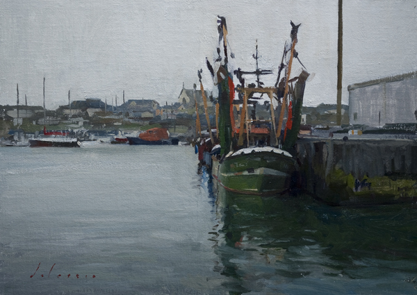 Landscape Painting of Kilmore Quay, Ireland
