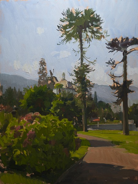Painting of the Promenade at Stresa, Lago Maggiore, Italy