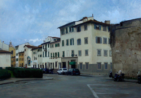 Landscape painting commission of Florence Italy.