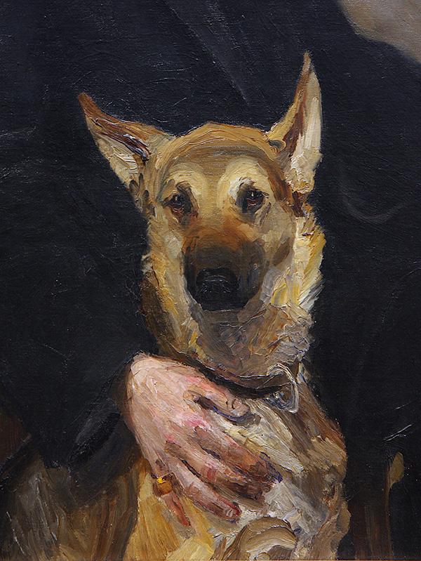 Self-portrait with Dog (detail).