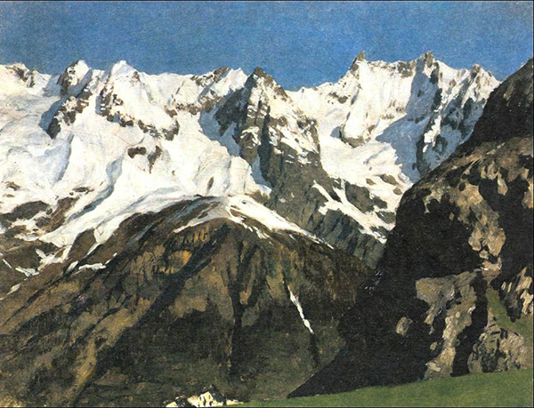 Isaac Levitan. Mont Blanc.