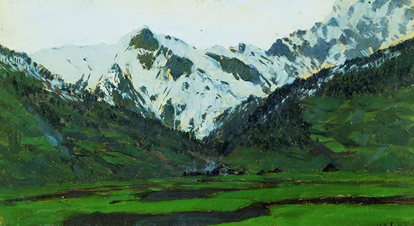 Issac Levitan. The Alps in Spring.