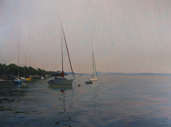 Evening on Lago Maggiore Recent Studio Landscapes