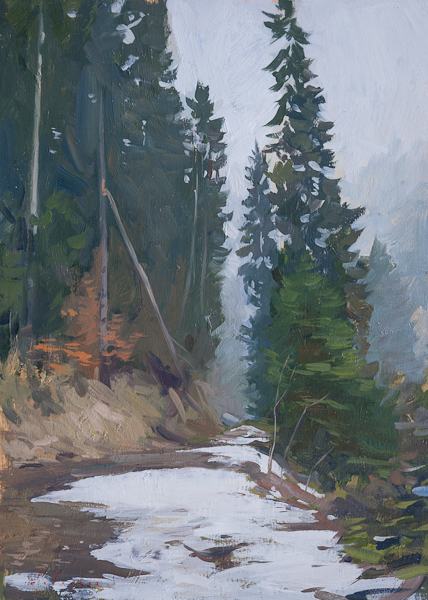 Swiss Path Plein Air Alpine Sketches