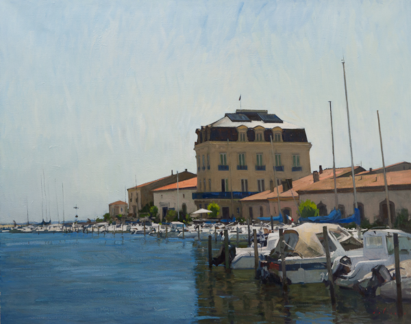 Painting of the Port at Marseillan