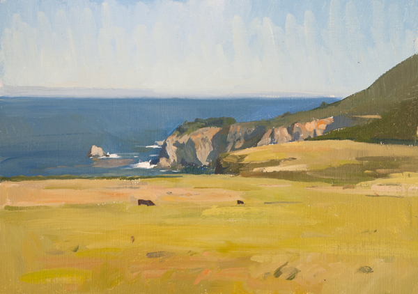Plein air sketch of Big Sur.