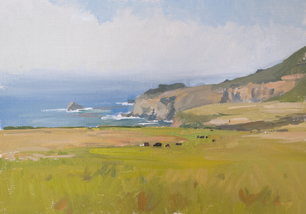 big sur cows Carmel Plein Air Paintings