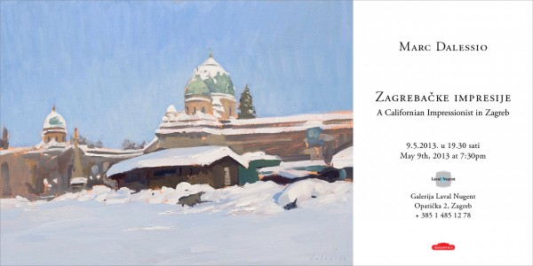 Evite for my painting exhibition in Zagreb.