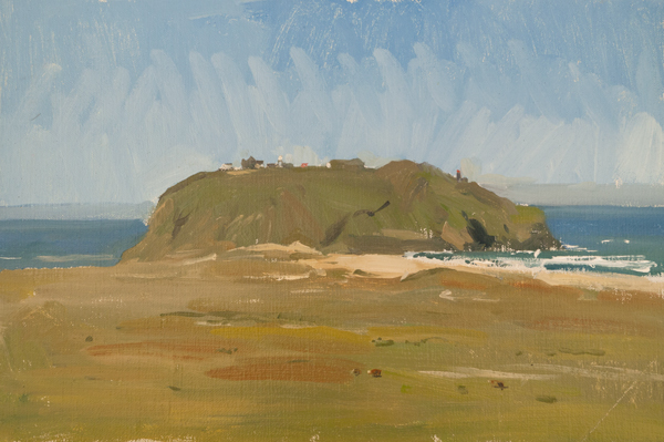 Plein air sketch of Point Sur.