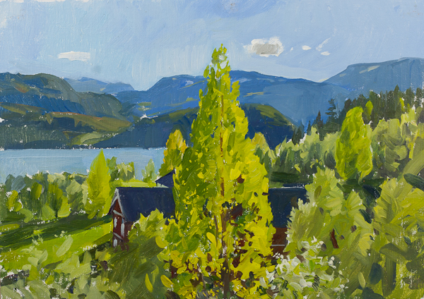 Farm at Vinje Norway Telemark Sketches